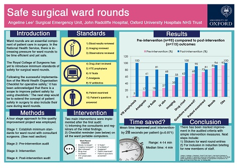 2014-15 1st Prize 'Safe surgical ward rounds'
